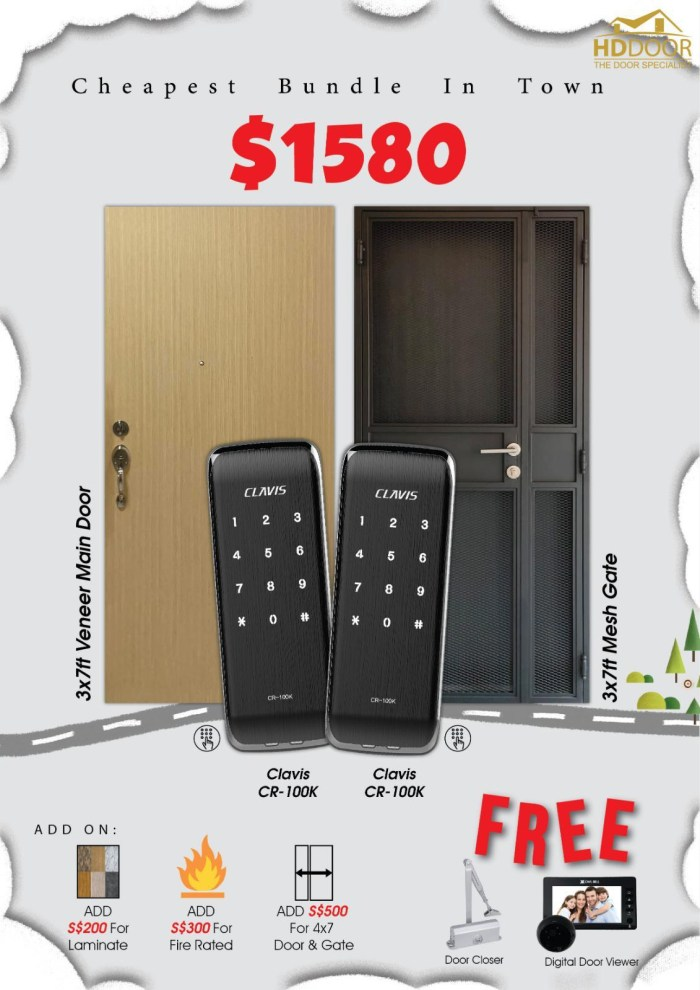 Cheapest Clavis Digital Lock Comes With Door and Gate