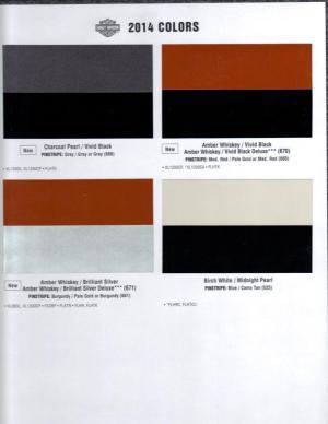 2014 Color Chart  Page 5  Harley Davidson Forums