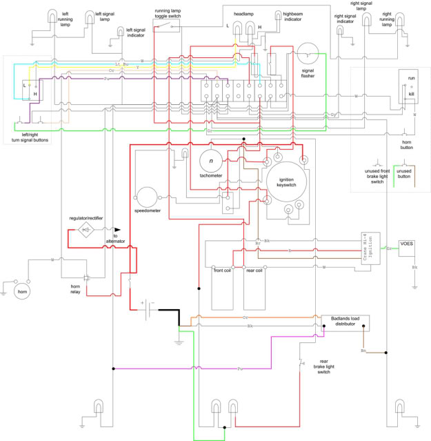on harley softail wiring harness diagram