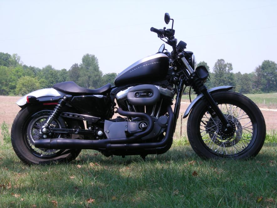 nightster iron exhaust pics and review