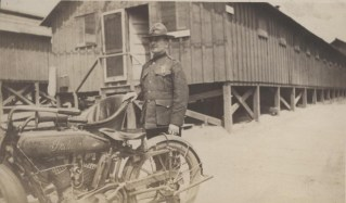 Otho Wiggs and Indian Motorcycle, circa 1917