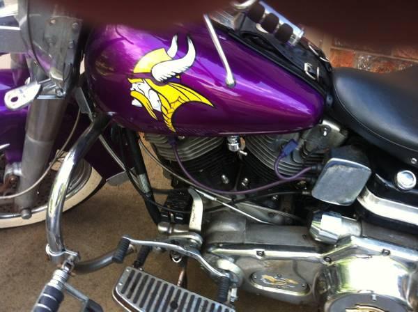 Minnesota Vikings Harley-Davidson Shovelhead for Sale on