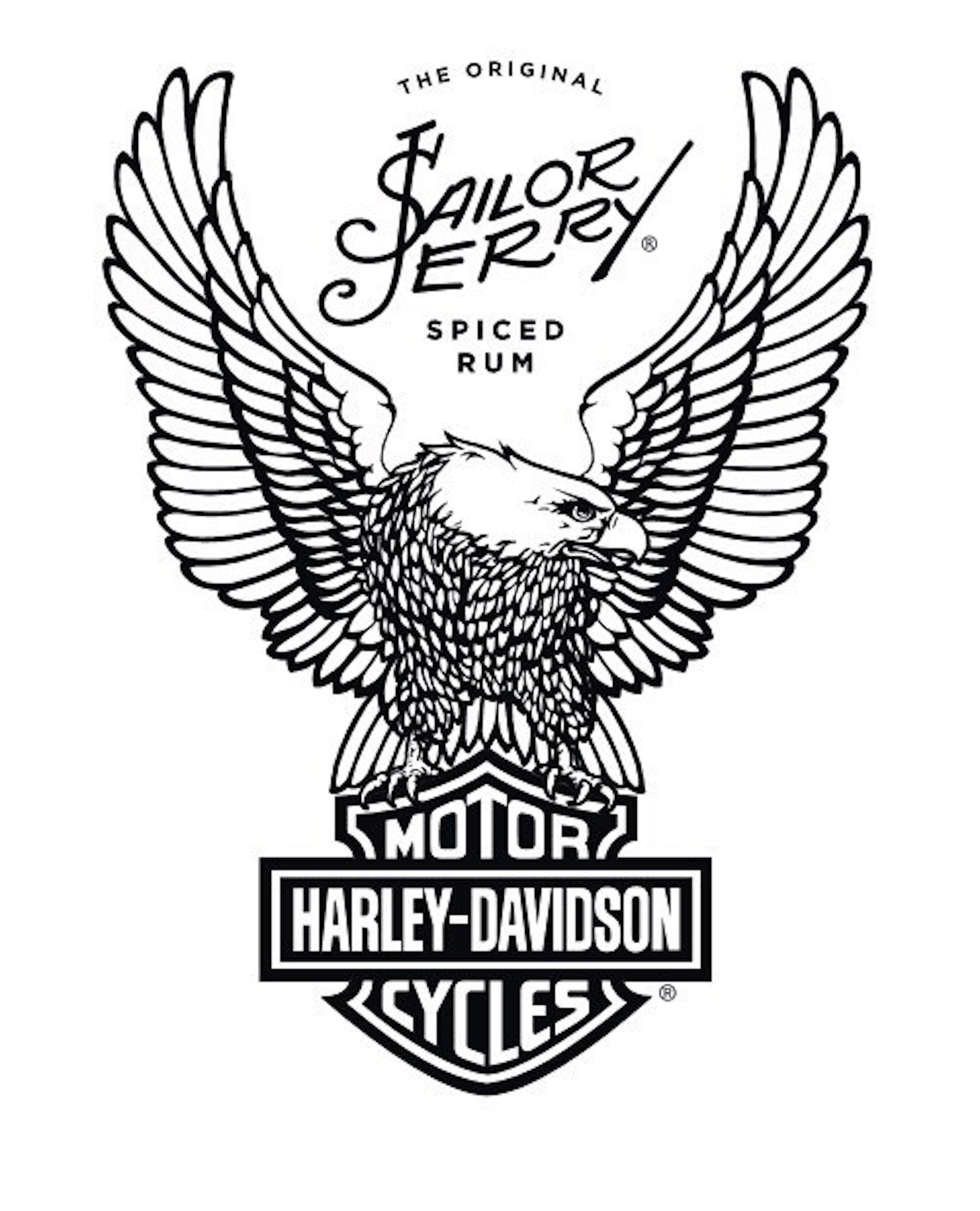 sailor jerry spiced rum harley-davidson logo
