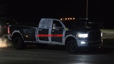 Photo of CAUGHT: 2019 Ram 3500 Big Horn Crew Cab At Night: