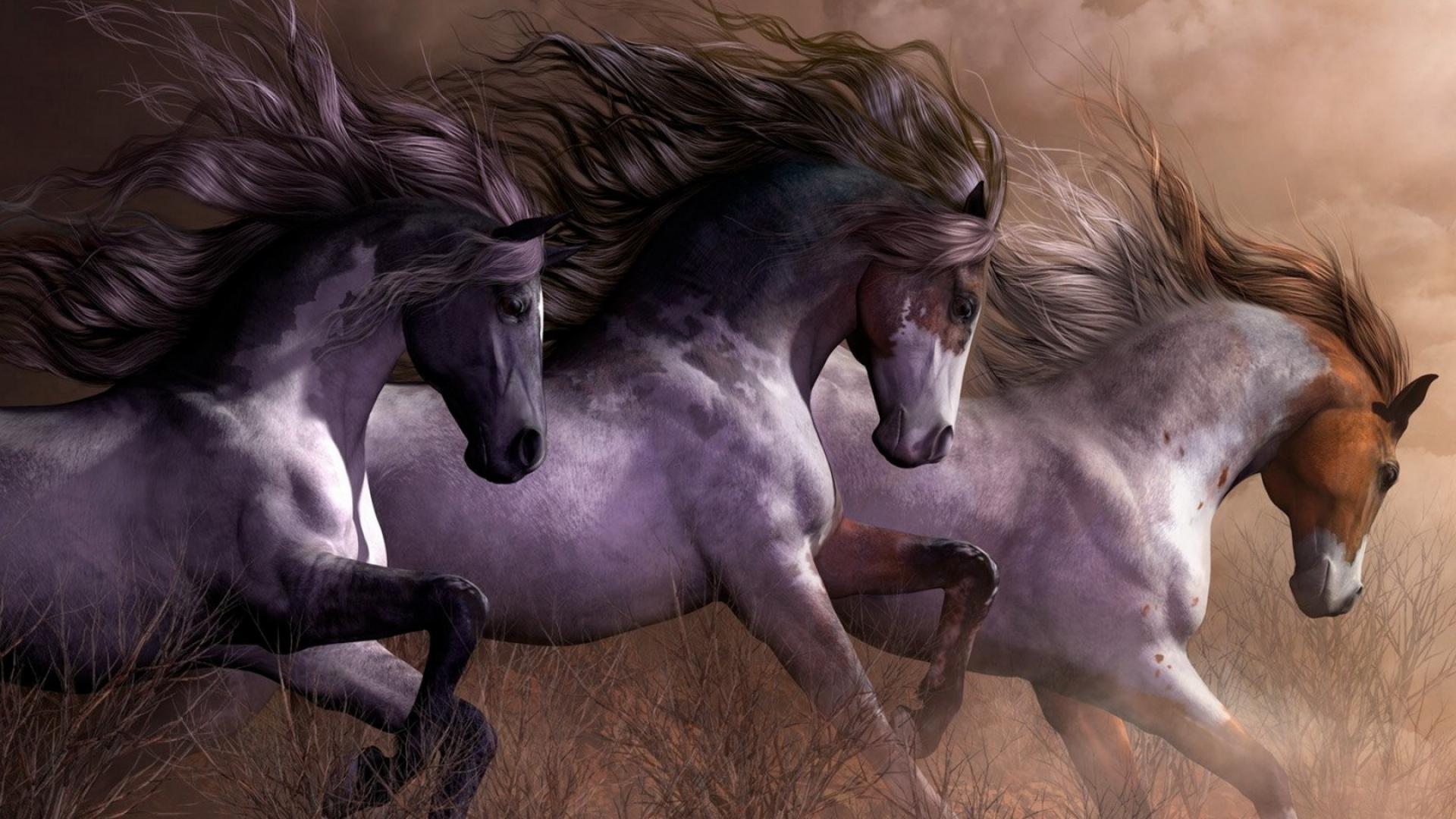 Best Wallpaper Horse Wall - horses_art_poster_painting_animal_digital_1920x1080_hd-wallpaper-1911020  Pictures_469891.jpg