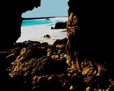 Silhouette of rocks