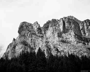 Big rocky mountains over Adelboden, Switzerland