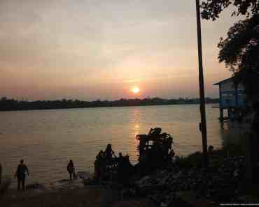 sunset at river ganga
