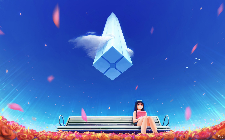 Os melhores apps para wallpapers de animes em 4k grátis (papeis de parede exclusivos). Anime Girl Alone Bench Blue Sky 4K Wallpapers   HD ...