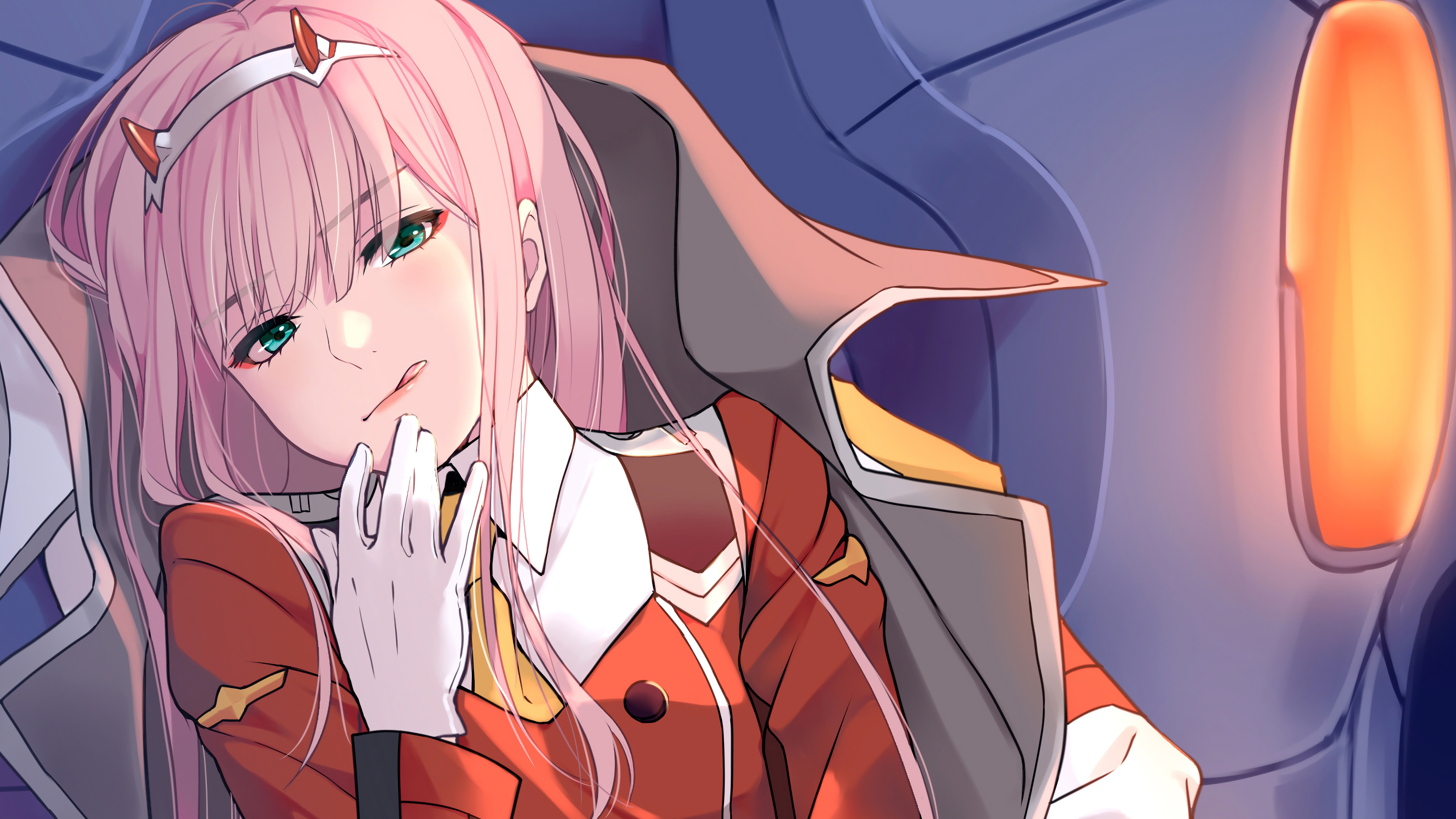 571 zero two darling in the franxx hd wallpapers background. darling in the franxx zero two with red dress and coat 4k ...