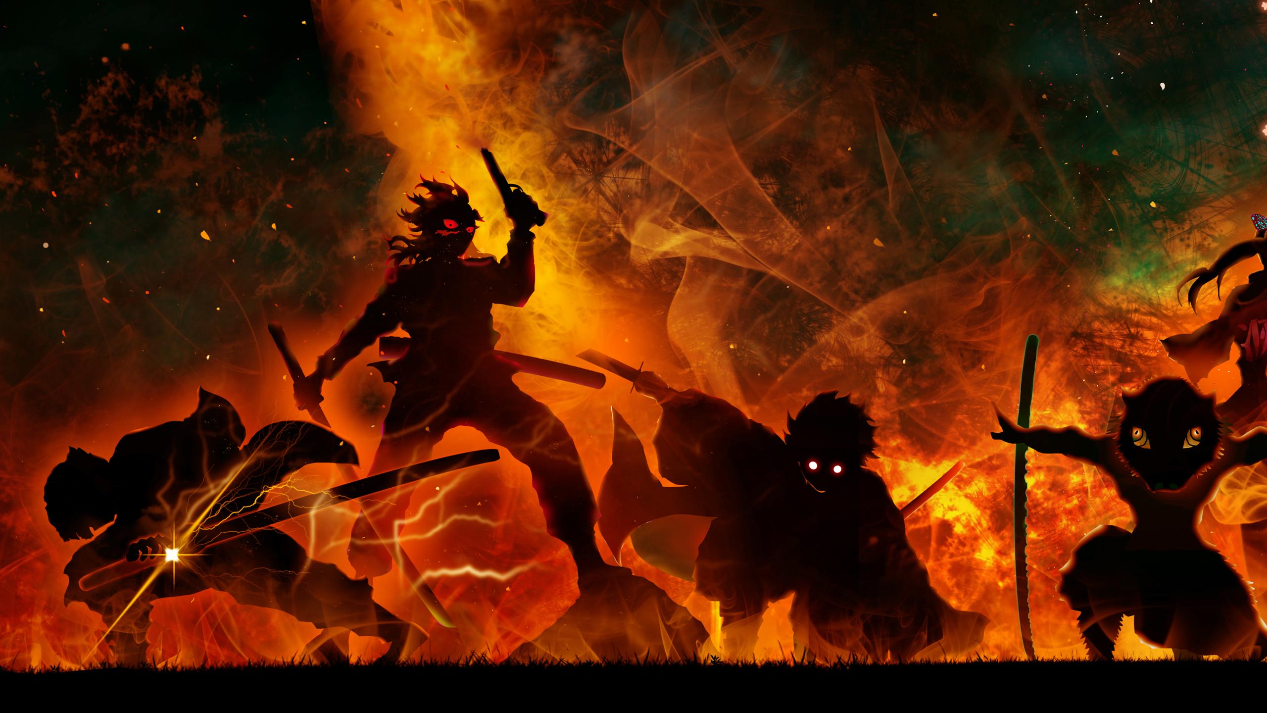 Hd wallpapers and background images demon slayer genya shinazugawa inosuke hashibira kanao ...