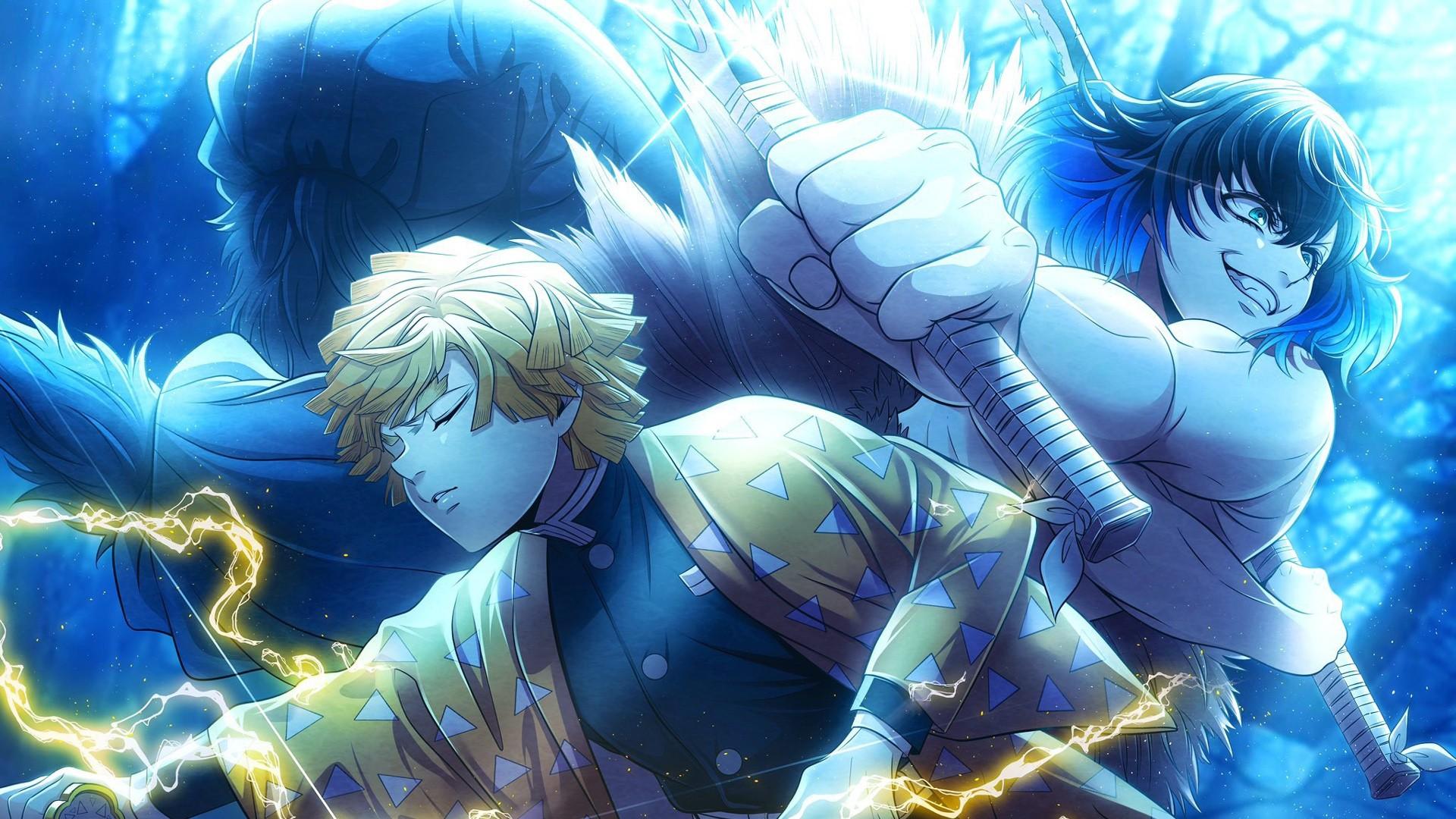 Looking for the best anime wallpaper ? Demon Slayer Inosuke Hashibira Zenitsu Agatsuma HD Anime ...