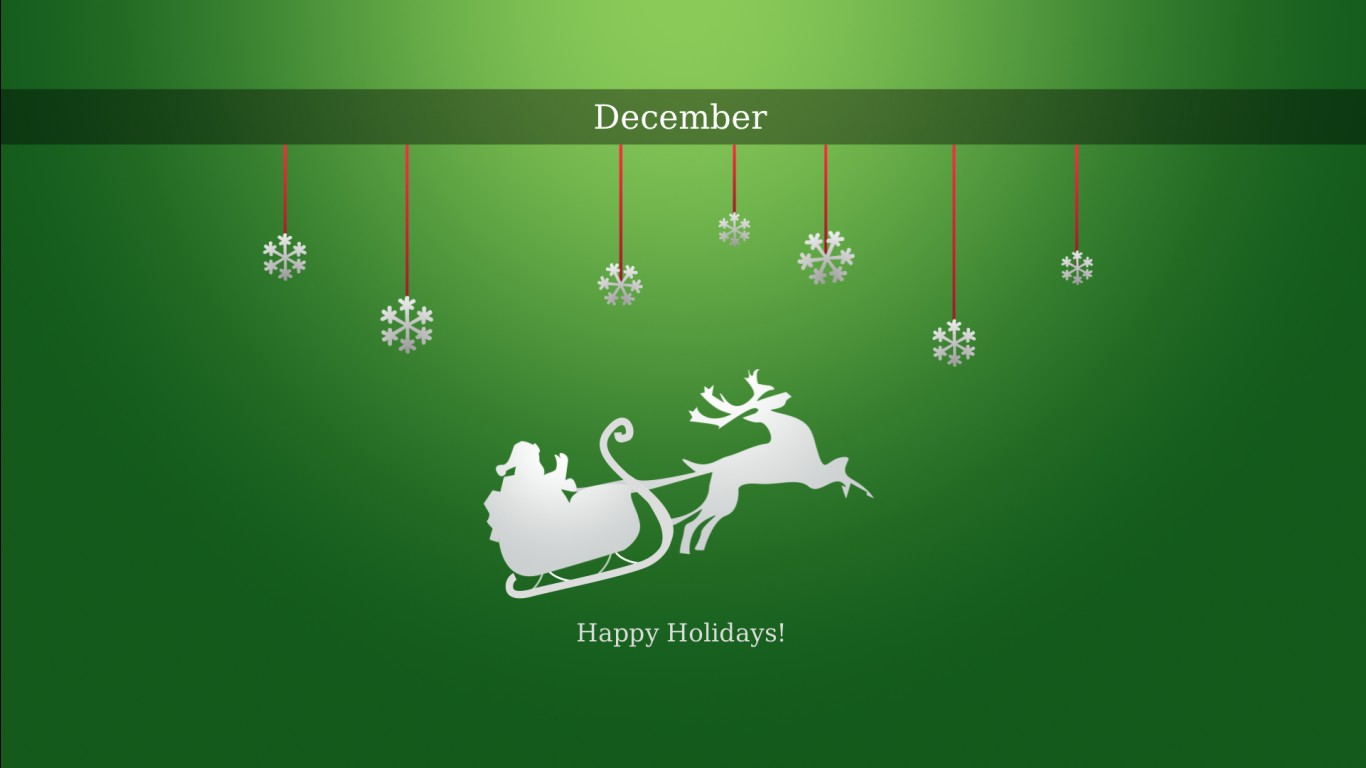 Happy December Holidays Wallpapers HD Wallpapers ID 12016