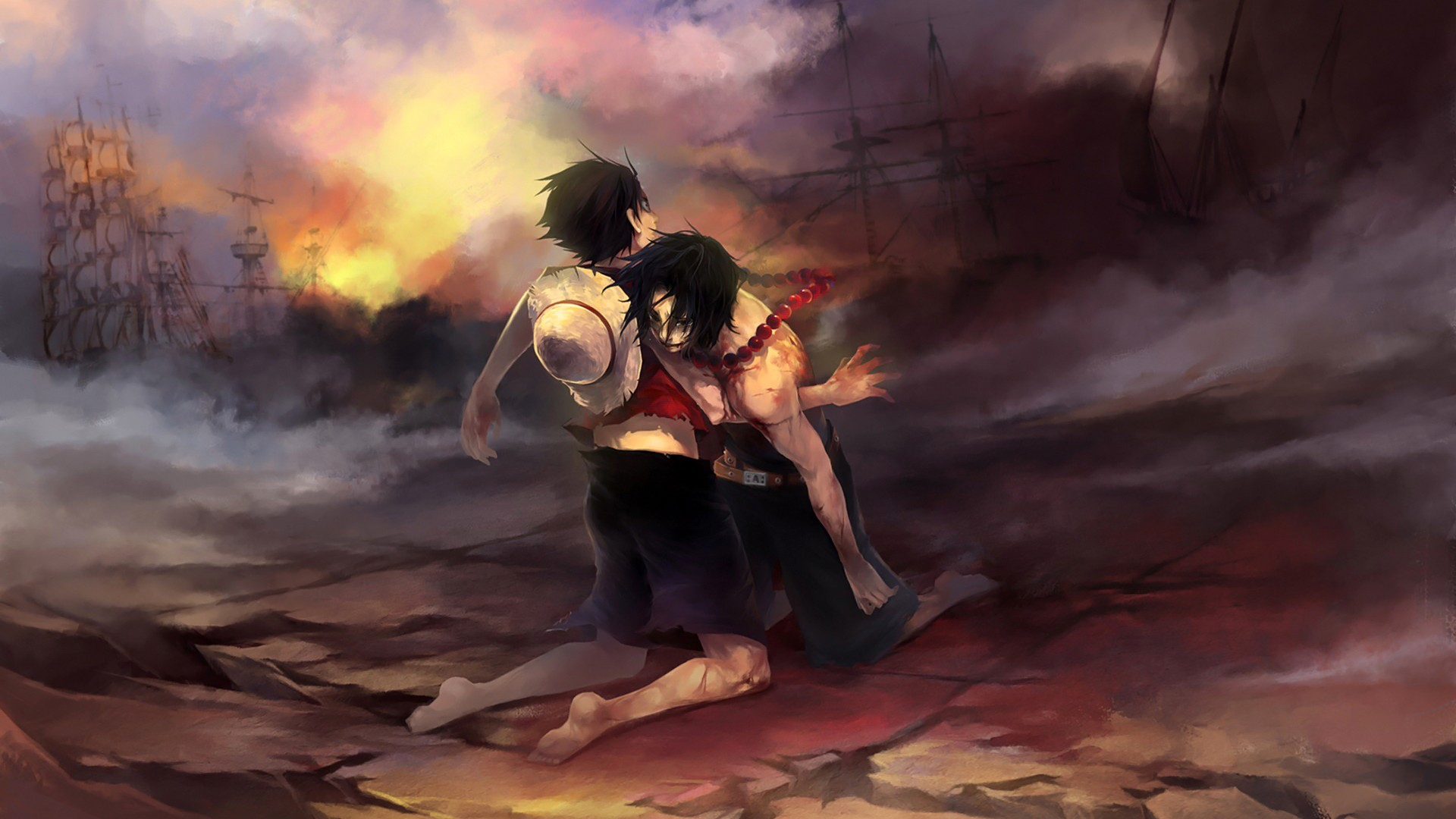Technology is helpful until it fails. One Piece Luffy Rescue Ace HD Anime Wallpapers   HD ...