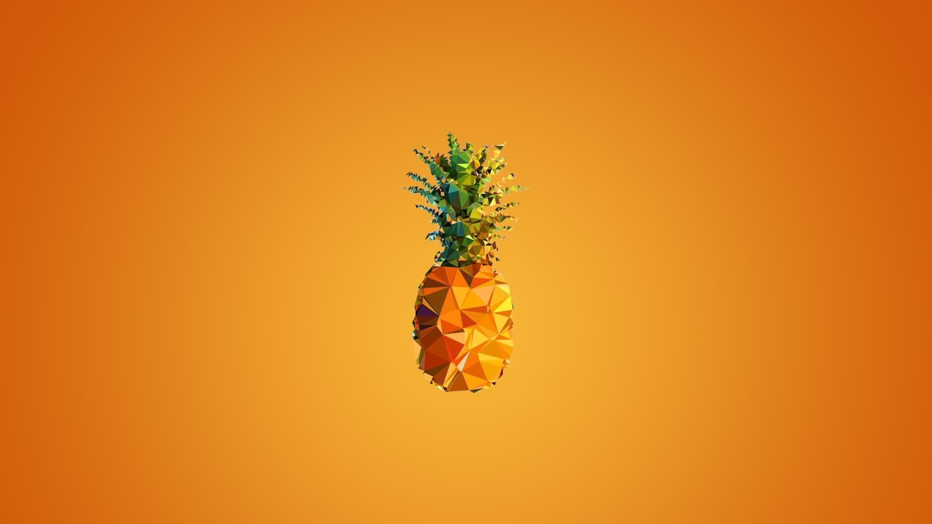 Create a unique look for your ios 14 home screen with these ideas for aesthetic backgrounds, icons, and phone wallpaper. Pineapple Art In Orange Background HD Orange Aesthetic
