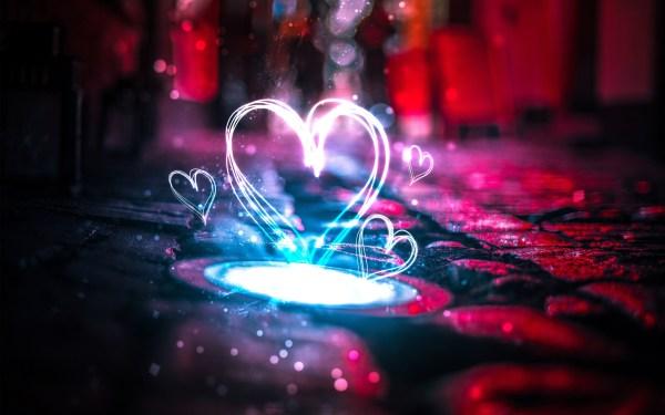 Neon Love Hearts 4K Wallpapers HD Wallpapers ID 22595