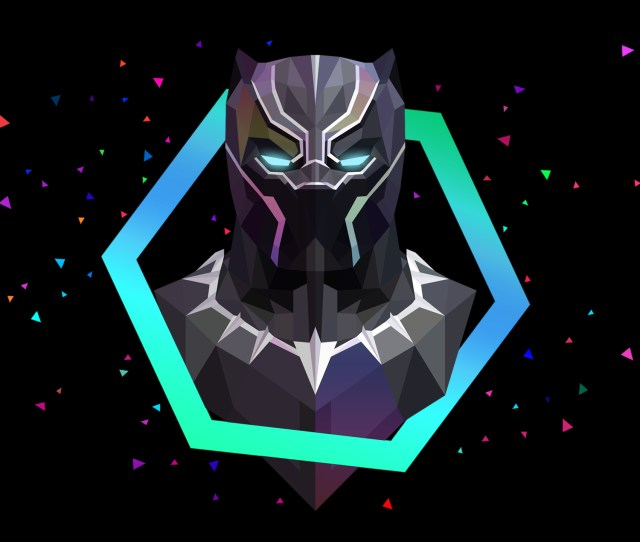 Black Panther Lowpoly Artwork Wallpapers