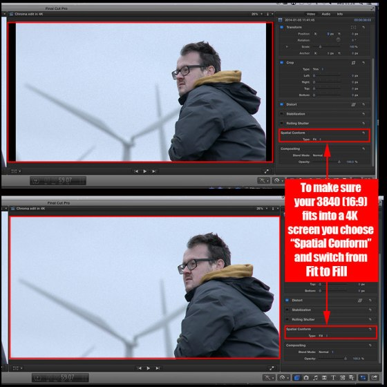 editing 4k footage in fcpx sony xavc