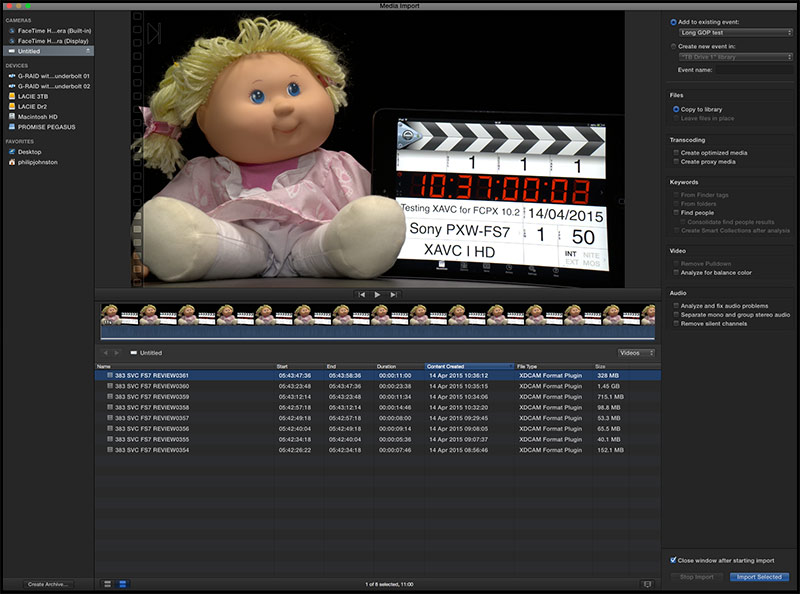 Final-Cut-Pro-XAVC-I-HD