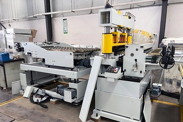 cut to length shear in blanking line