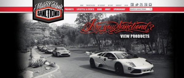 Sanctiond website header