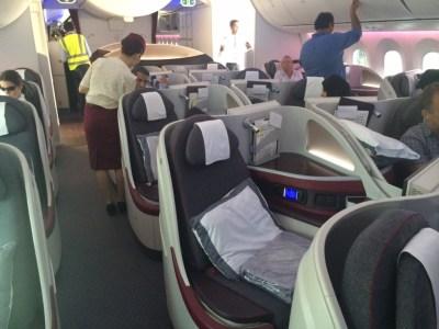 Qatar Airways 787 business class review - cabin