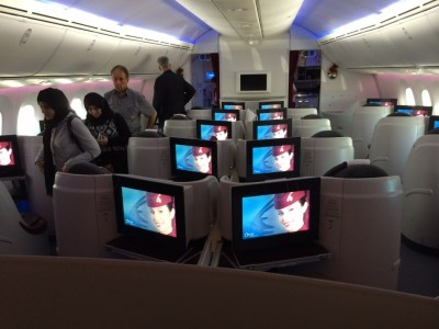 Qatar Airways 787 business class review - getting off