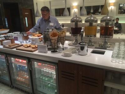No 1 Traveller lounge Heathrow Terminal 3 review buffet