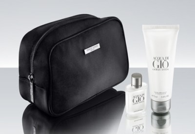 Armani amenity kit Qatar Airways A380 business class review