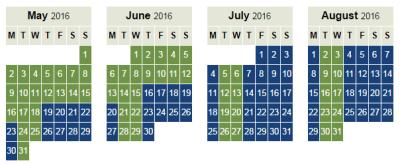 British Airways peak offpeak Avios calendar 2017