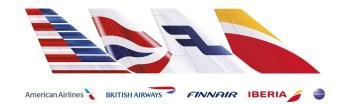 BA AA Finnair IB