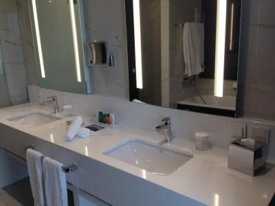 Hilton Tallinn Park review suite bathroom