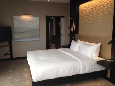 Hilton tallinn park hotel review suite bedroom bed TV