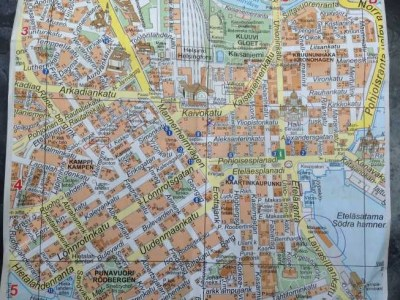 Helsinki city map