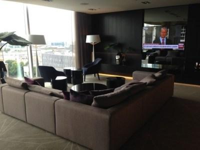 hilton tallinn park review executive lounge TV corner