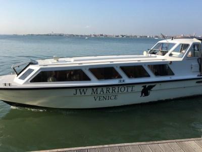 JW Marriott resort hotel Venice shuttle boat