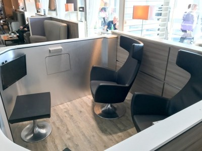 Aspire plus lounge Newcastle Airport TV booth