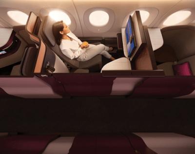 Qatar aisle seat