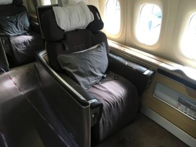 Lufthansa 747-8 First Class review - seat 1