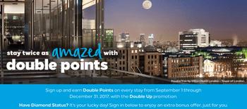 Hilton double points promotion