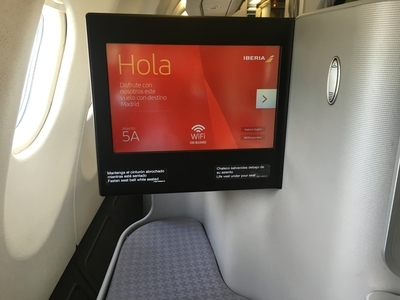 Iberia A340 business class seat reviewed