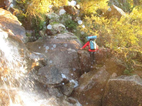 David crossing Crystal Brook