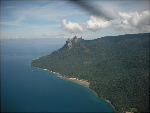 Aerial View of Dragon Horns Tioman (photo from Tam)