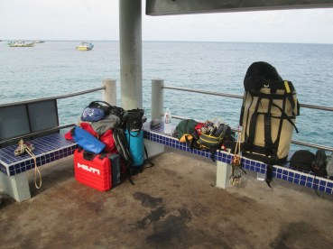 Gear Sort on the Genting jetty Tioman Dragon Horns