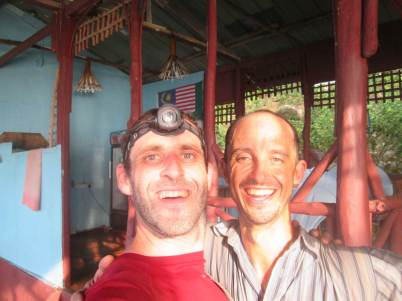 Stephane and David happy but exhausted after Waking Dream Ascent on Tioman
