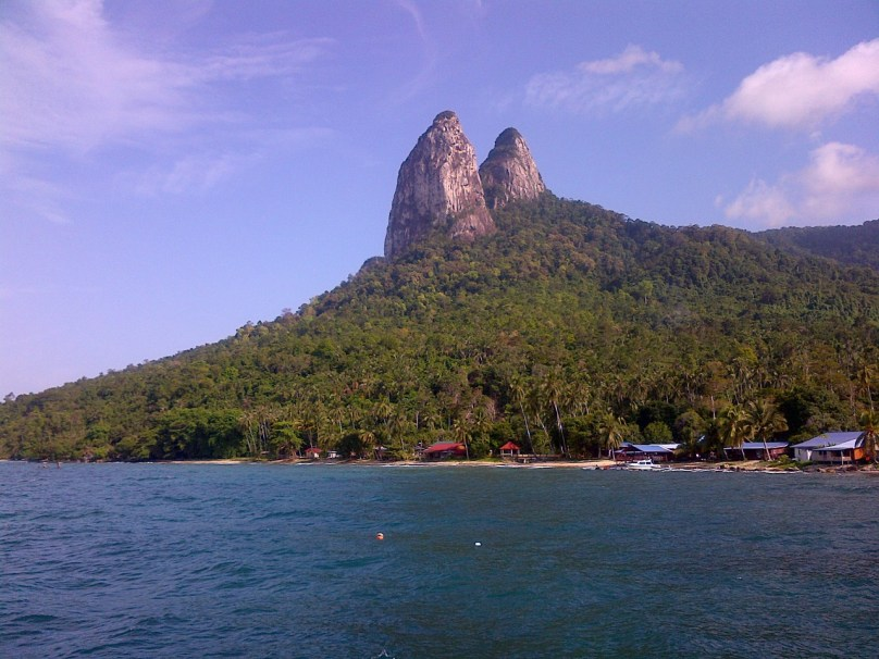 The Dragons Horn on a beautiful saturday on Tioman Island Malysia