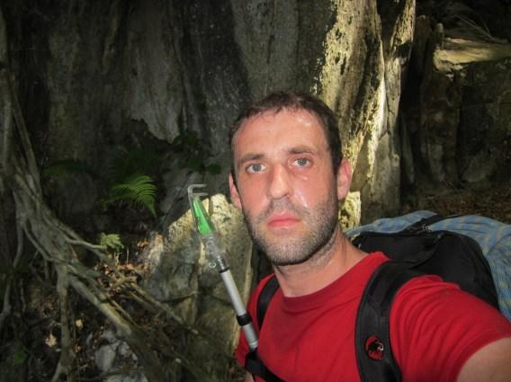 Stephane Coupleux on the way to campeground Bukit Takun