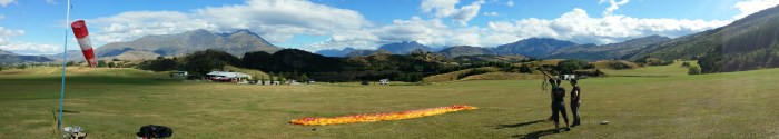 The Flight Park down from Coronet Peak and ground handling