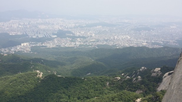 Another view of Seoul from Chouinard A on Insubong, Mt Bukhansan South Korea 2