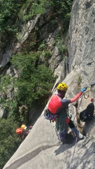 Korean team on Janggun Bong Rock Climbing South Korea Seoraksan